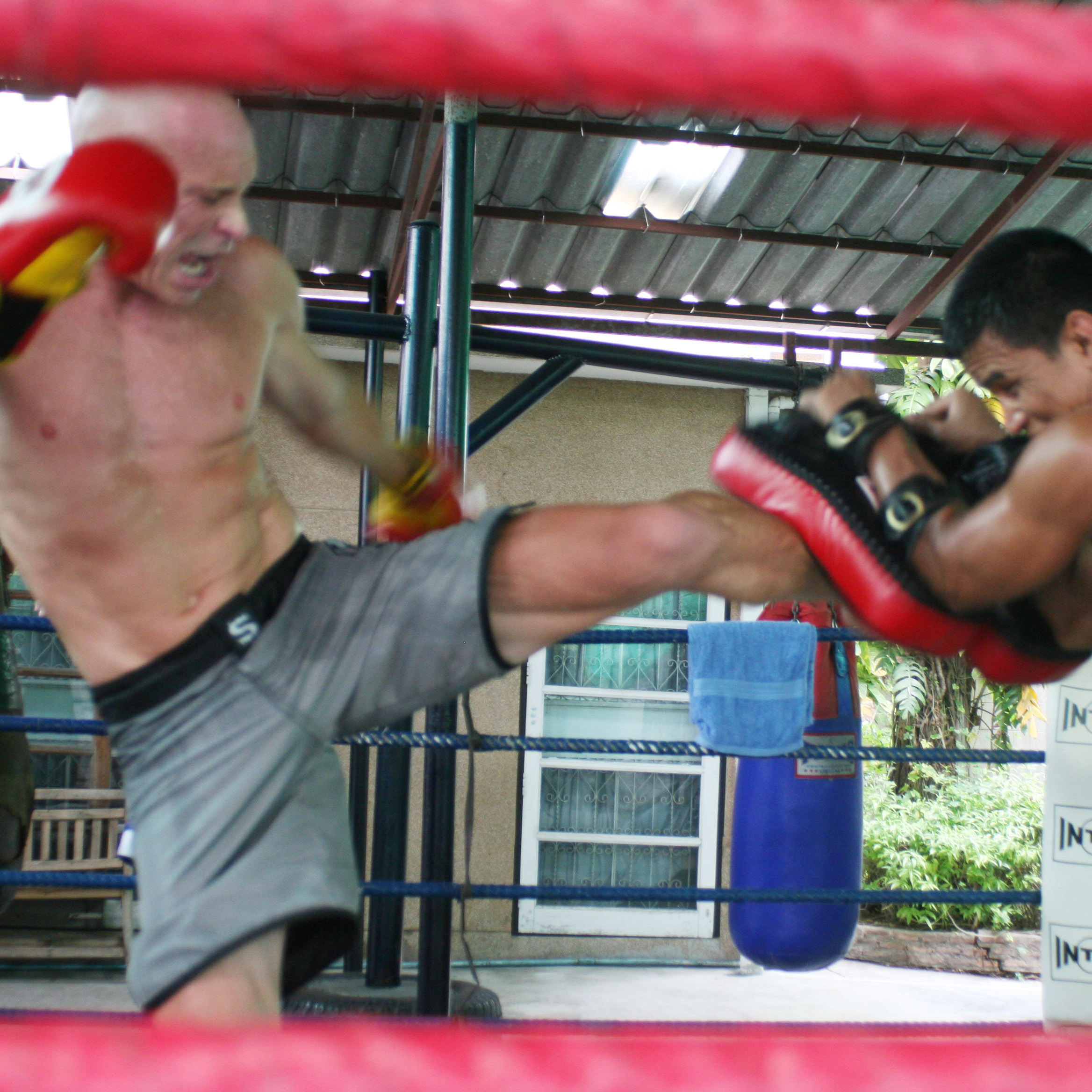 Ajarn Dan training in Thailand.