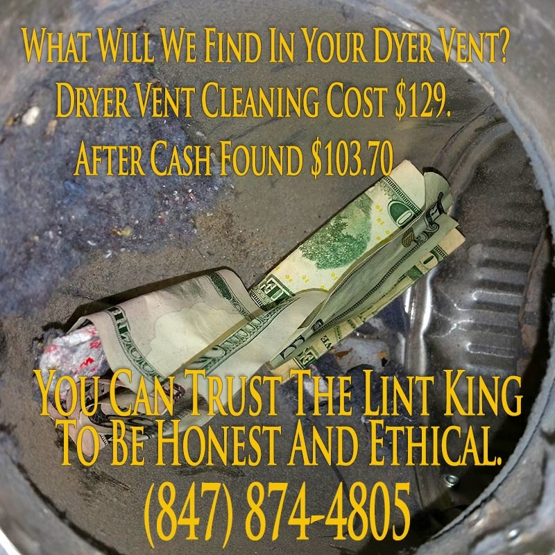 Is it your lucky day? This Bartlett homeowner received a bonus from their dryer vent. What will find in your dryer's vent!