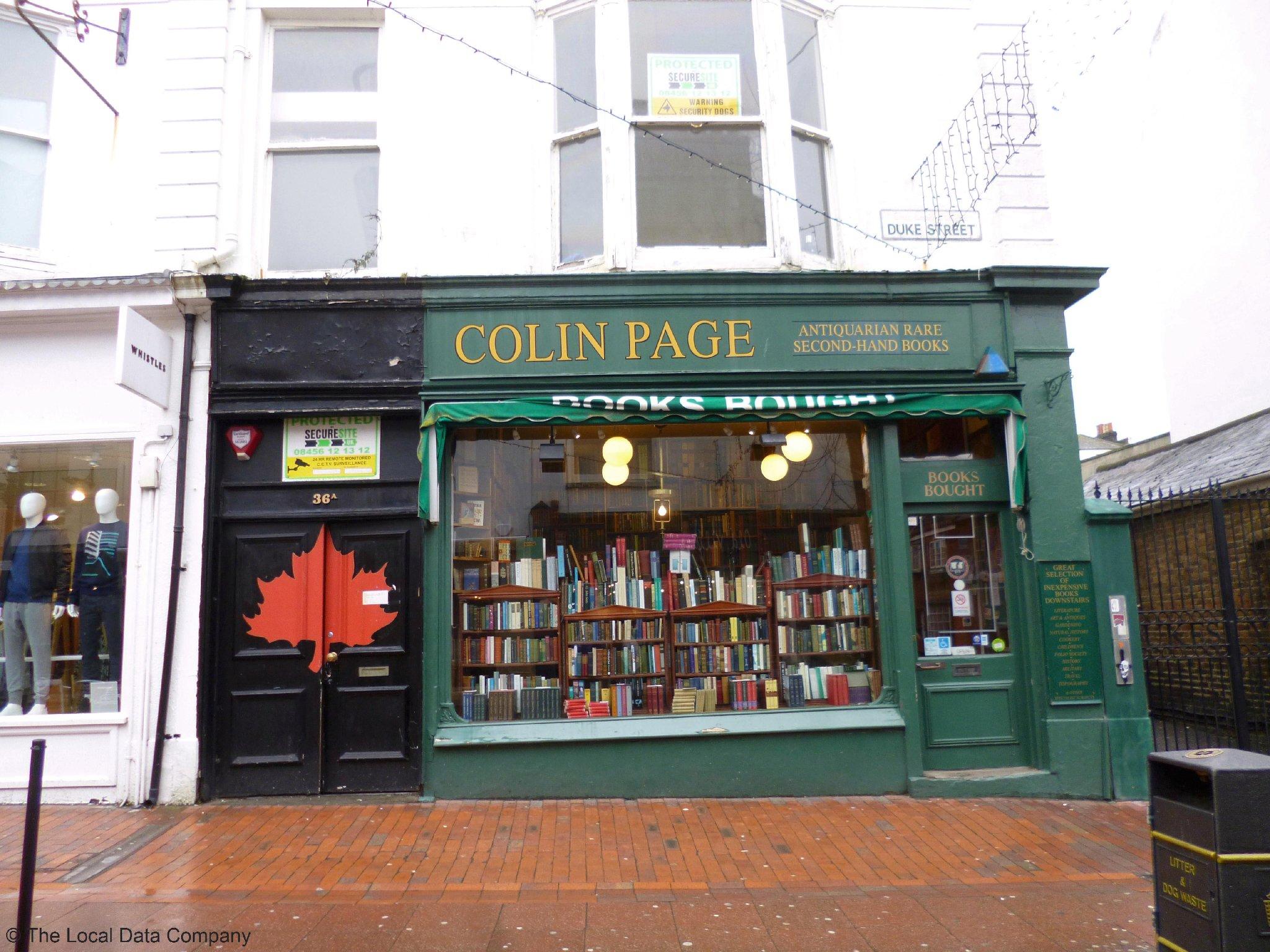 Colin Page Books - Books Secondhand in Brighton BN1 1AG - 192.com