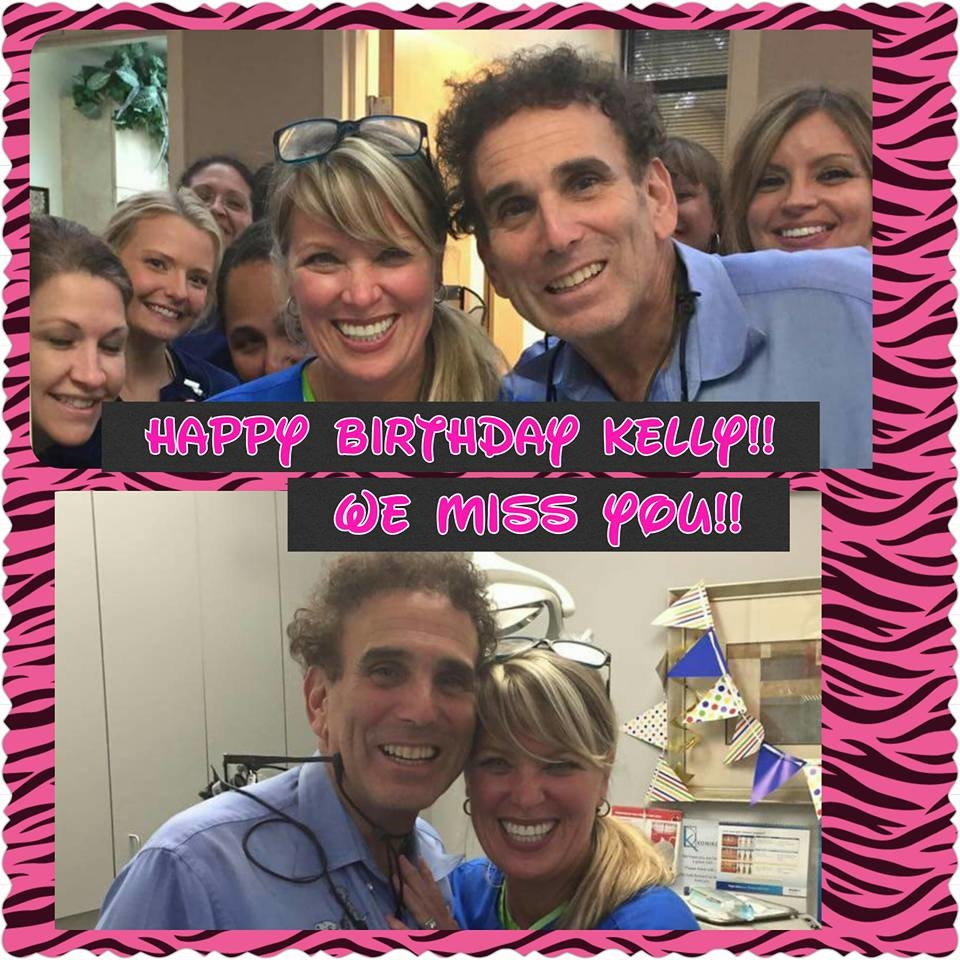 Once a part of our KDA family....ALWAYS a part of the family.  Here's wishing our recently retired super-fantastic hygienist Kelly Scheer a very Happy Birthday. Hope you have a great day...We miss you