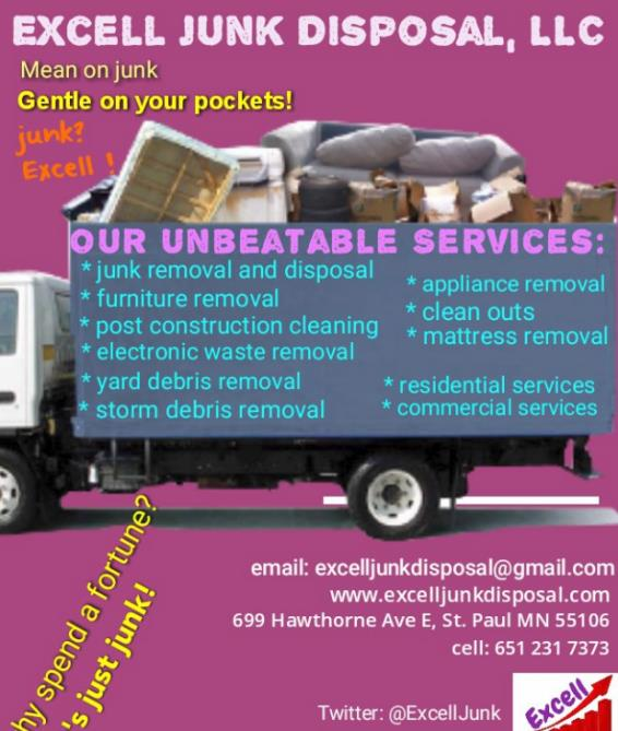 Excell Junk Disposal Llc Saint Paul Mn Junk Removal Mapquest