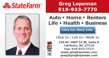 Greg Lopeman - State Farm Insurance Agent in Carrboro, NC, photo #2