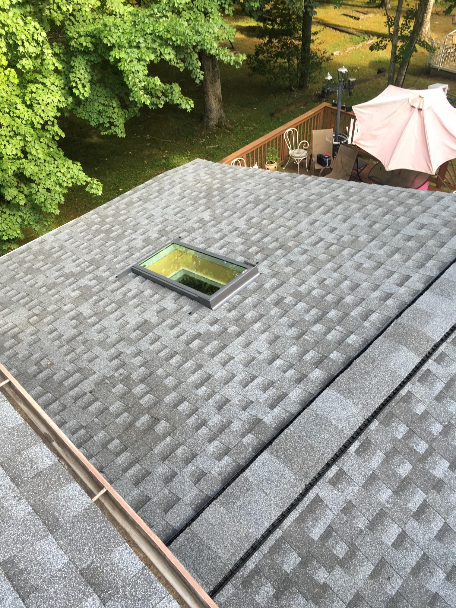 Installed skylight.