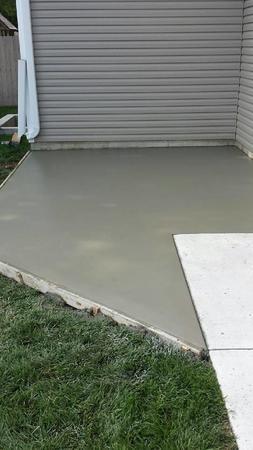 Concrete patio addition.
