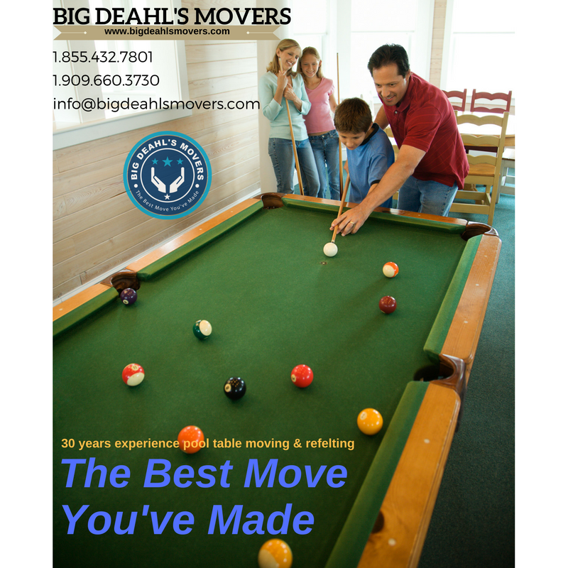 Elizabeth AR Big Deahls Movers Find Big Deahls Movers In - Pool table movers corona ca