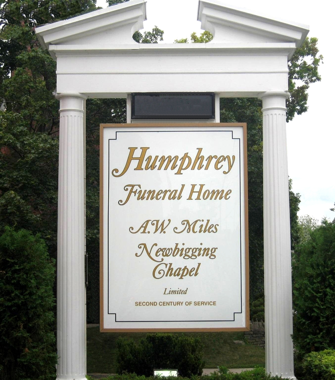 Humphrey Funeral Home A W Miles Newbigging Chapel Limited
