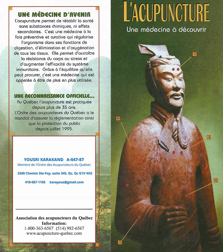 Acupuncture Yousri Karakand in Québec