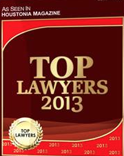 Top Lawyers- Houstonia Magazine  (281) 587-1111
