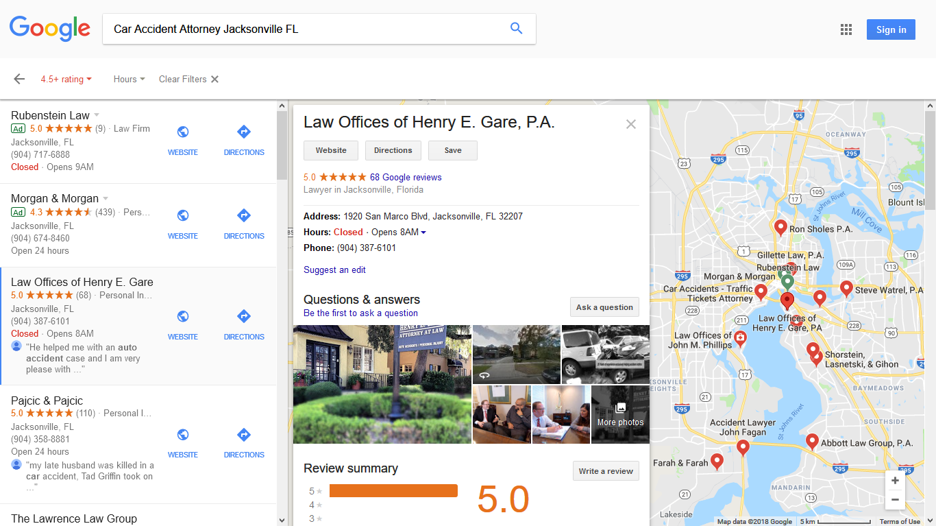 An SeoScriptor Client's Google Maps Local Business Listing.