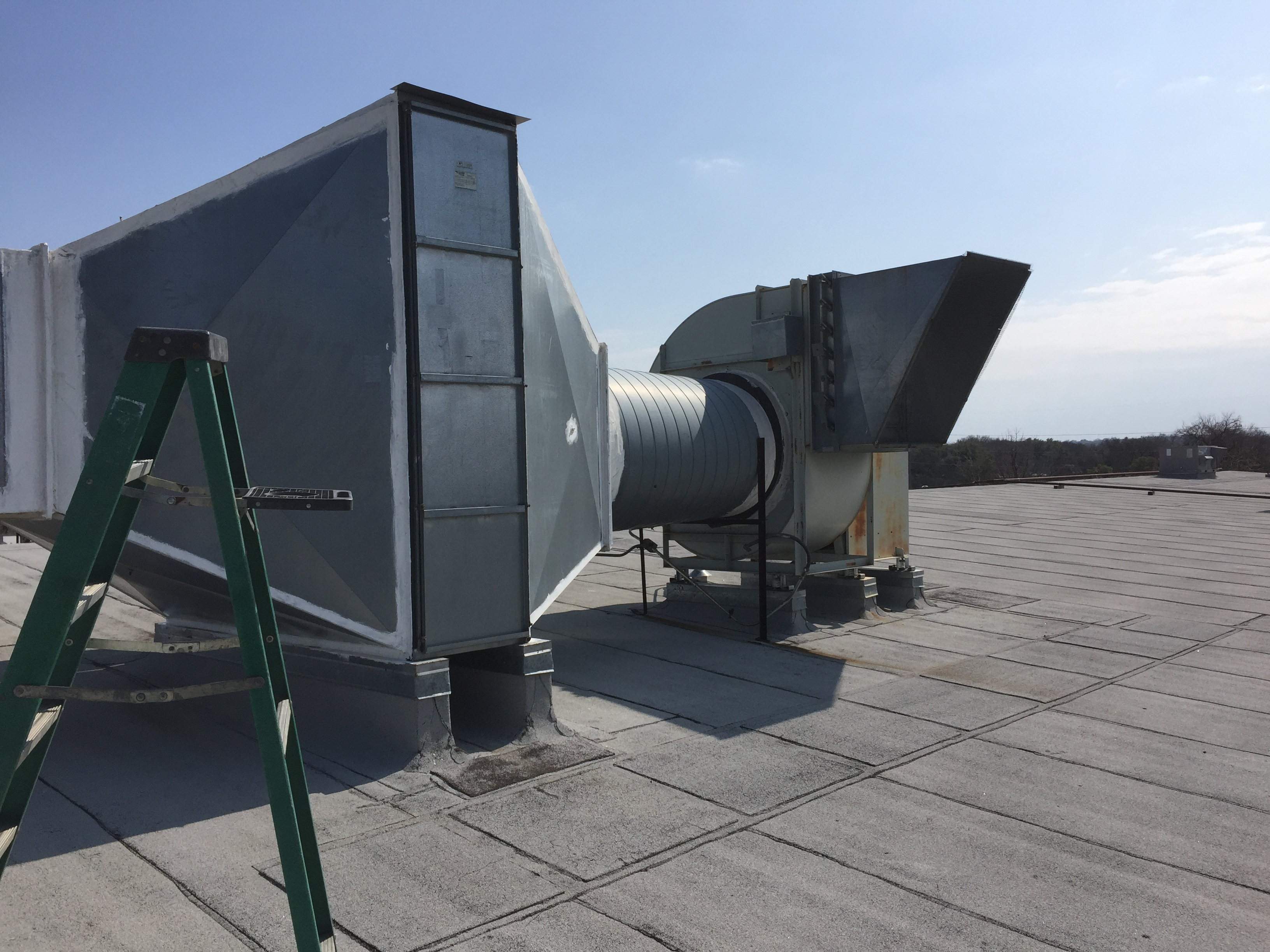 Exhaust system on Carswell Air Force base shooting range we maintain.