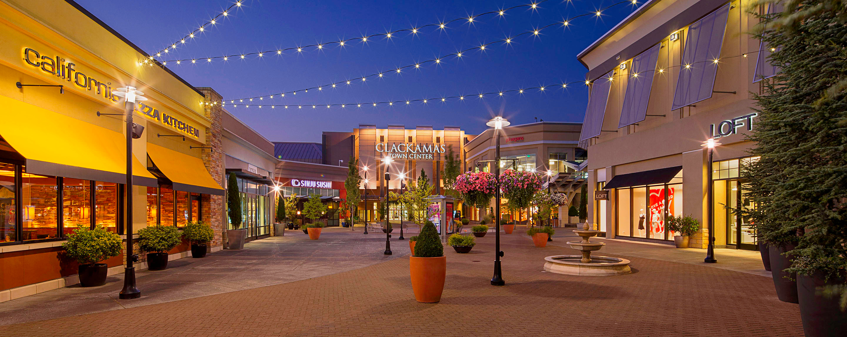 Clackamas Town Center is a shopping mall established in in the Portland, Oregon, metropolitan area, located on unincorporated land in the Clackamas area of Clackamas .