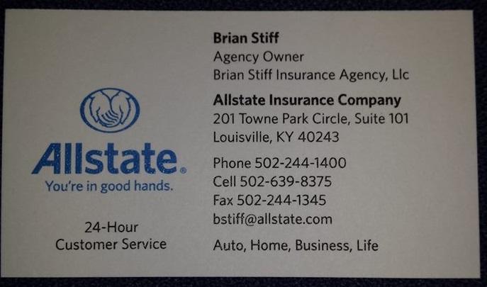Allstate Insurance Agent: Brian Stiff