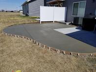 Concrete patio addition for some awesome customers.
