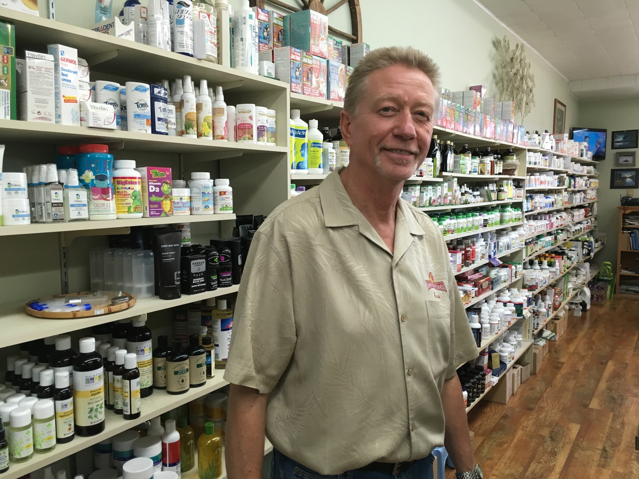 Sta Well Health Foods Store in Williams Lake: Bruce in Sta Well Health Food Store