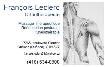 Clinique d'orthothérapie François Leclerc à Québec