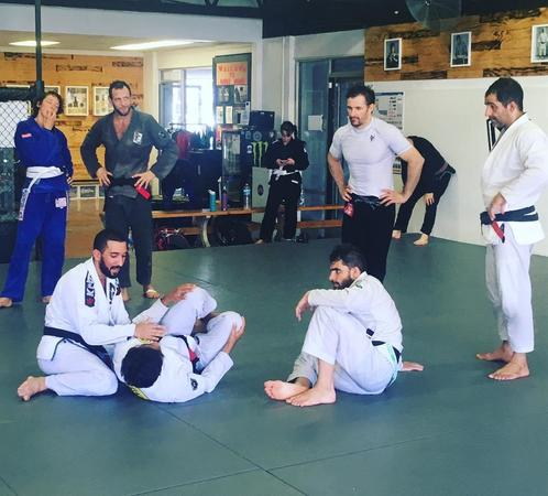 Training in a martial arts class