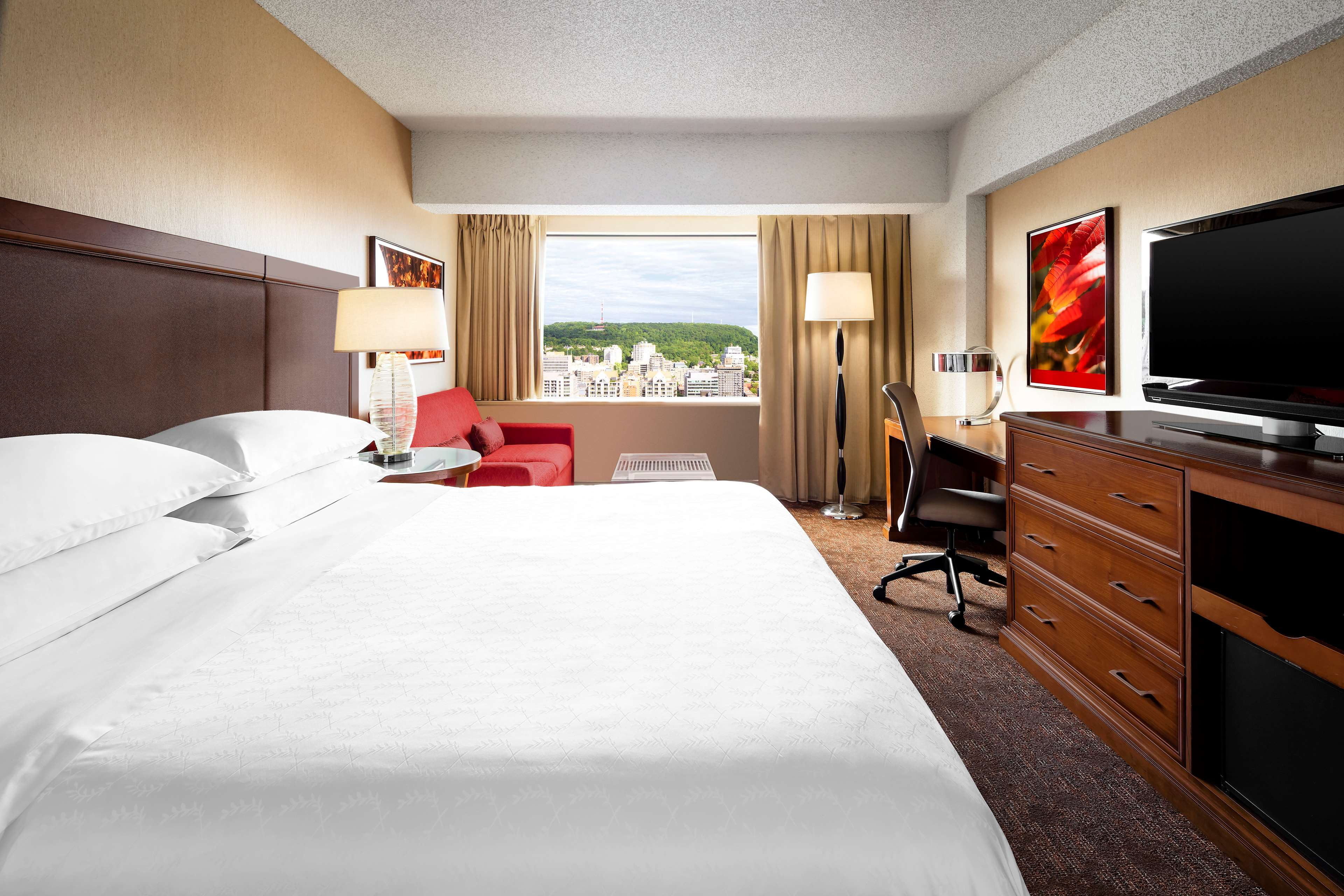 Le Centre Sheraton Montreal Hotel à Montreal: Chambre deluxe, lit king Deluxe guestroom, King Bed