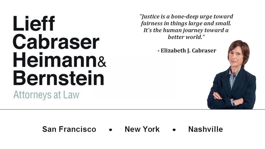 Lieff Cabraser Heimann & Bernstein, LLP - ad image