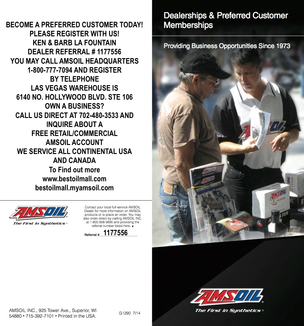 Auto Parts Store in NV Las Vegas 89135 AMSOIL INDEPENDENT BESTOILMALL.COM 5445 Progresso Street  (702)480-3533