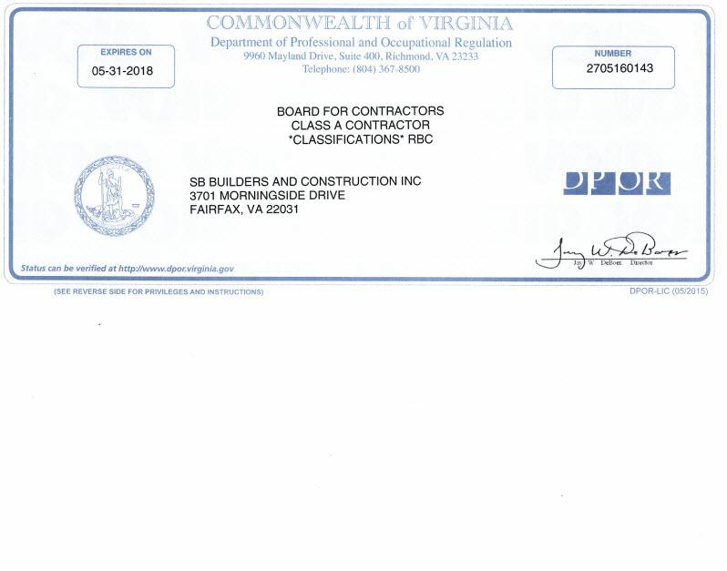 SB Builders and Construction, Inc. image 7