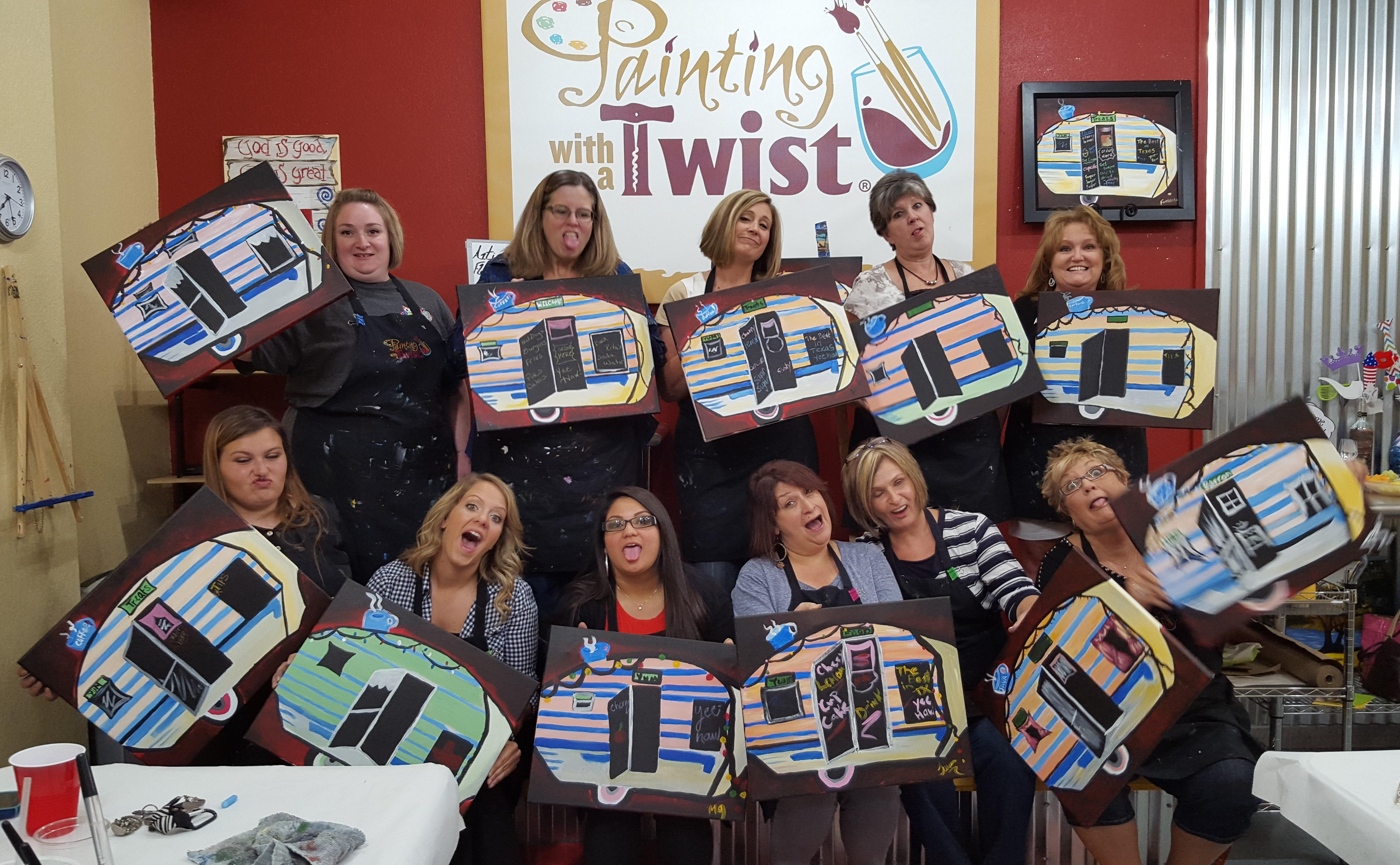 Painting with a twist granbury tx company page for Painting with a twist arizona