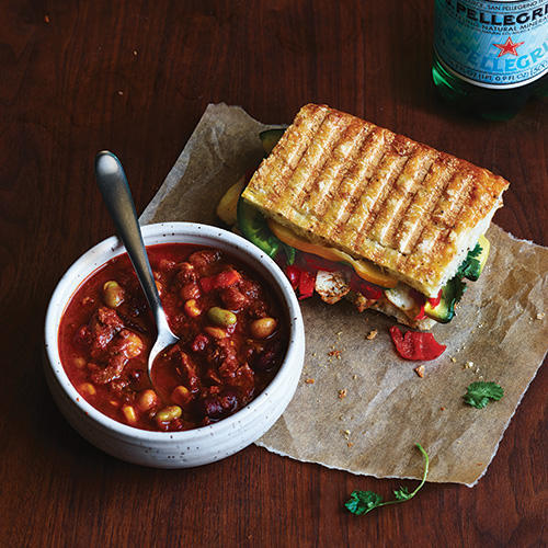 Try the new Chipotle Chicken Avocado Melt, paired with Turkey Chili.