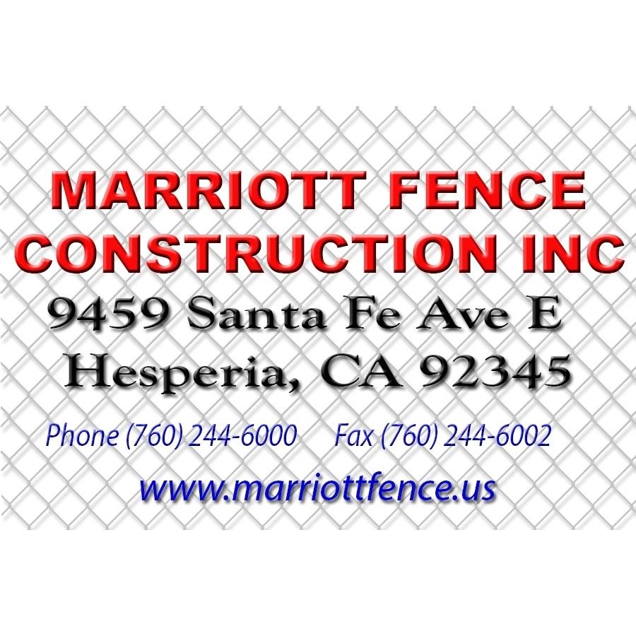 MARRIOTT FENCE CONSTRUCTION INC