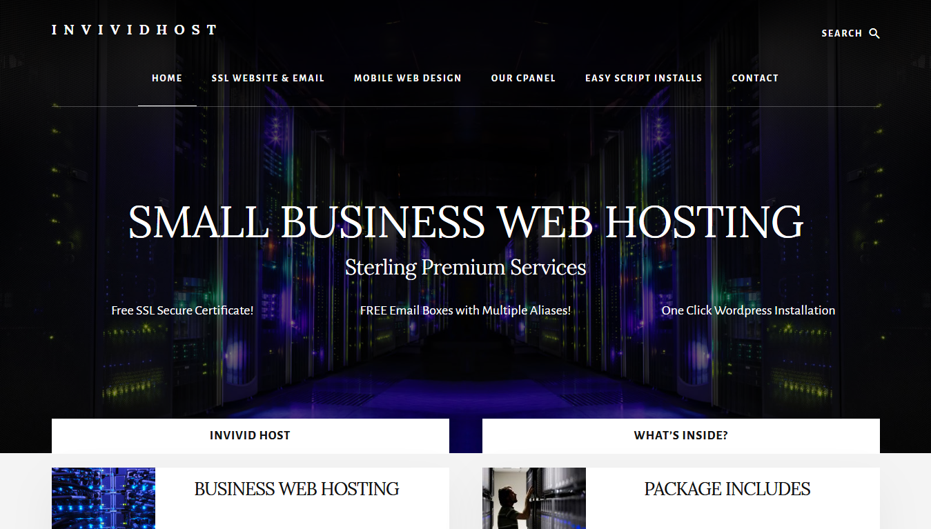 Our Hosting arm. We provide sterling premium hosting for small business and personal websites. Free SSL certificate for your website and FREE SSL secure private email boxes with multiple aliases. Are you paying for these elsewhere?