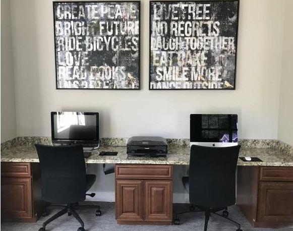 Resident Business Center With Computer and Printer