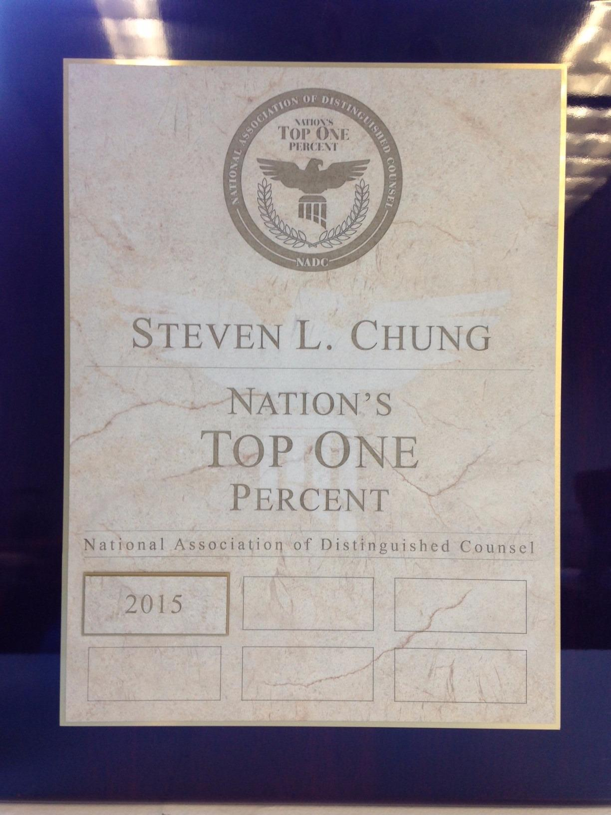 Nation's Top 1% - Attorney Steven L. Chung