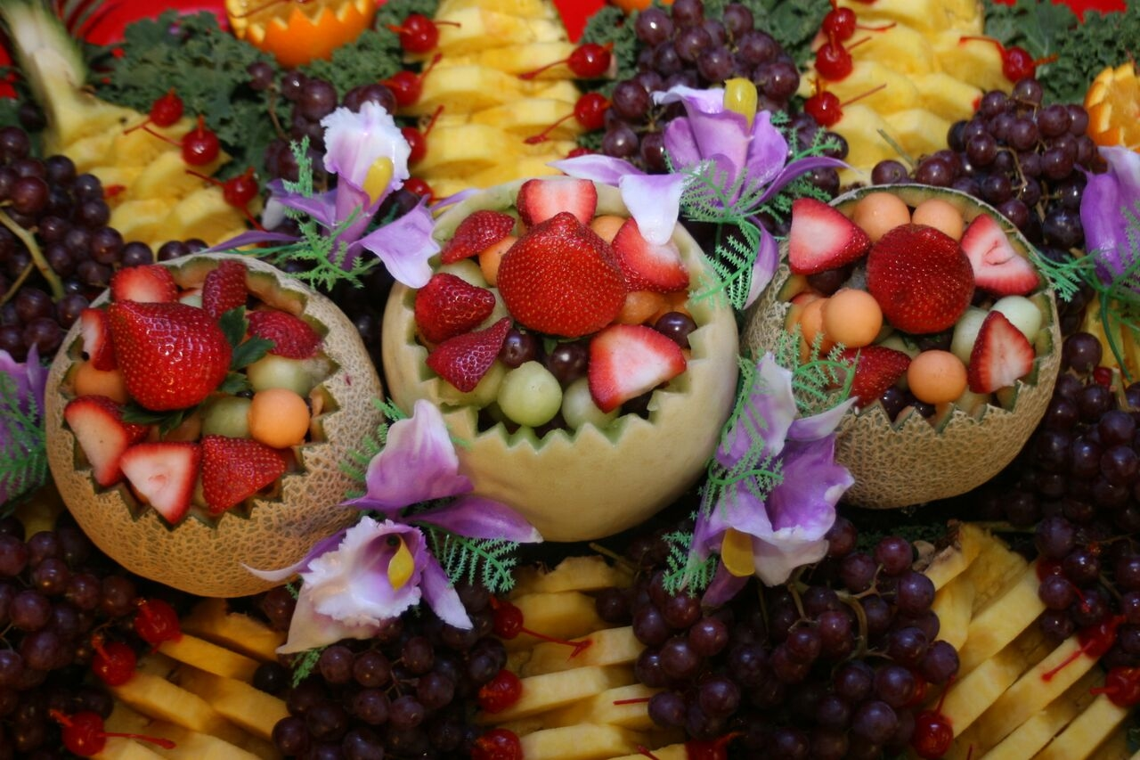 Beautiful fresh fruit platters made to accommodate parties of any size.