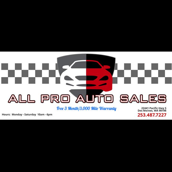 All Pro Auto Sales LLC - Des Moines, WA 98198 - (253)487-7227 | ShowMeLocal.com