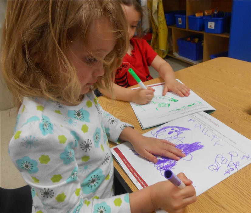 This is What Learning Looks Like: Building brain power while practicing name writing gives the understanding that the printed word carries messages.