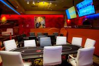 Comfortable chairs and high quality poker tables!