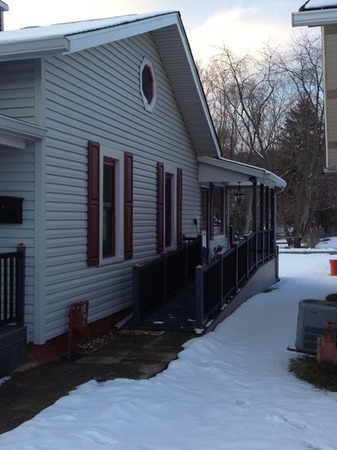 New siding and wheelchair ramp in Pittsburgh.