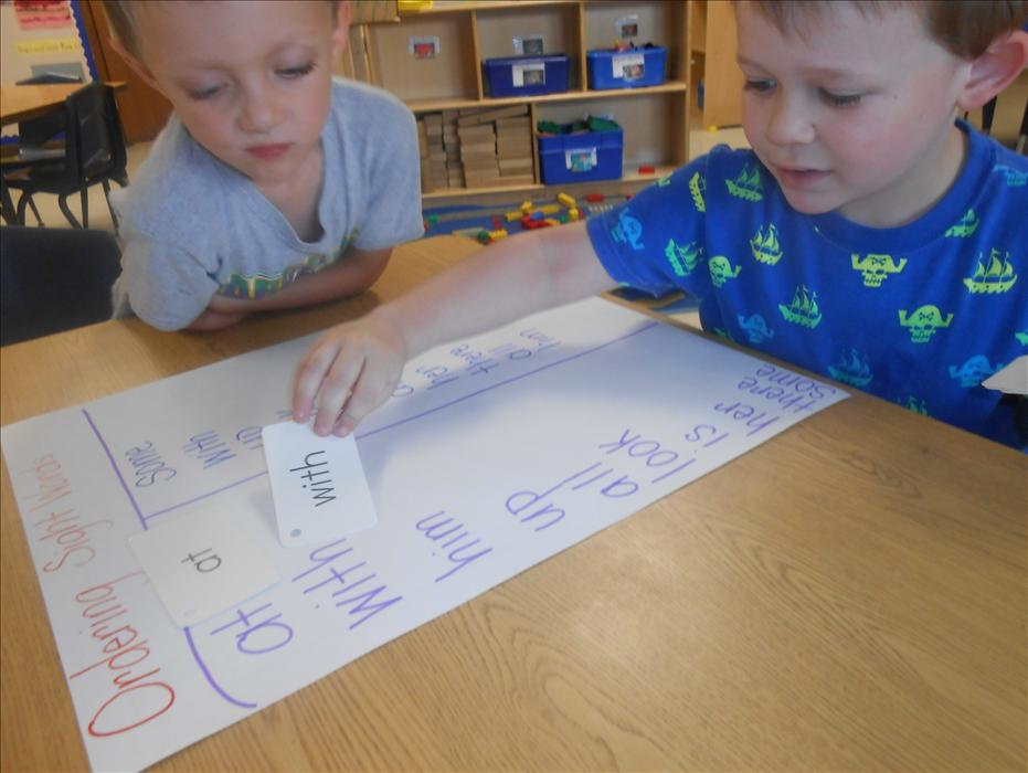 This is What Learning Looks Like: Building brain power while learning to recognize, match, and order sight words.