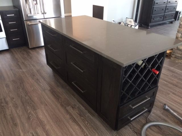 Allcraft Kitchens En' Counters in Williams Lake: Wine Rack Island