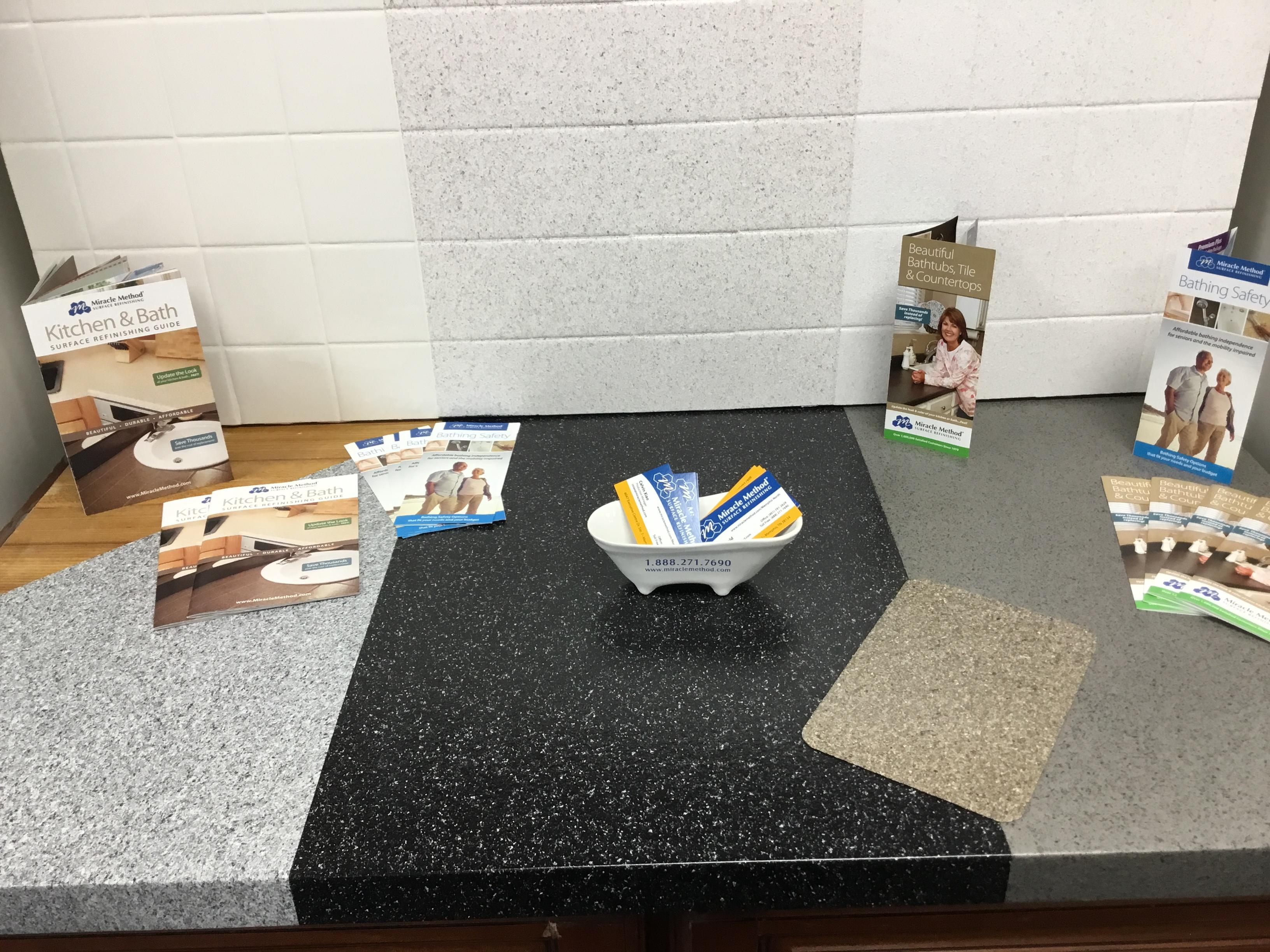 board kitchen covers concrete countertops to tile cutting from miracle for on countertop method vegetable or skim bath