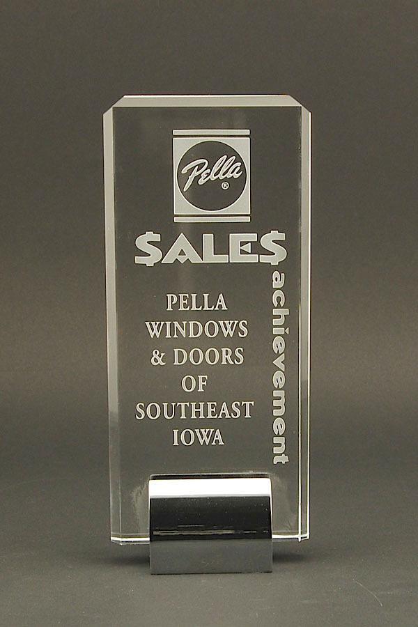 Laser engraved acrylic award