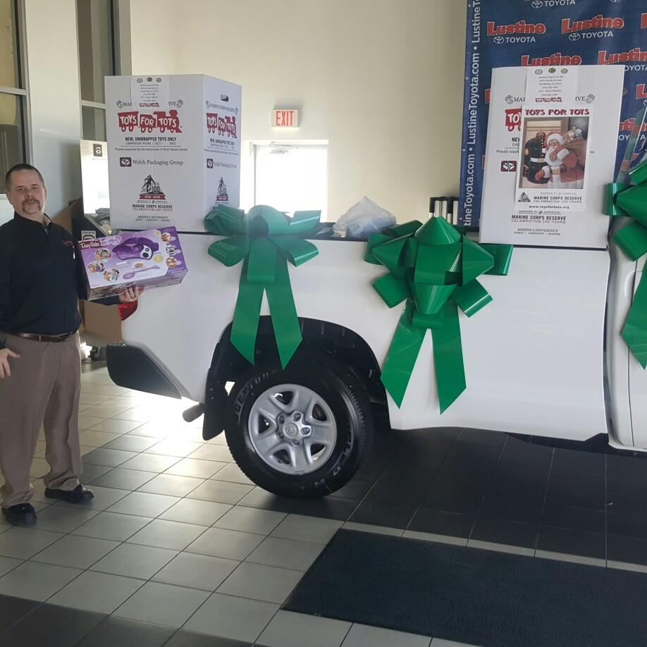 Operation Toys For Tots At Lustine Toyota... Getting Ready To Deliver The  Toys