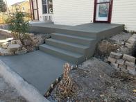 Customized concrete steps.