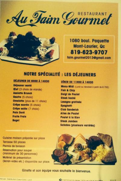 Au Faim Gourmet à Mont-Laurier