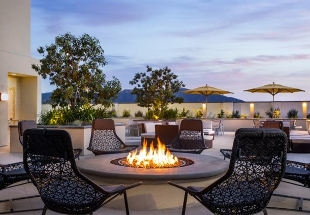 Following a long day exploring the city, sit back and relax around our outdoor fire pit while enjoying California's beautiful weather year round.