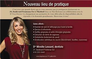 Centre Dentaire Mireille Lessard à Thetford Mines