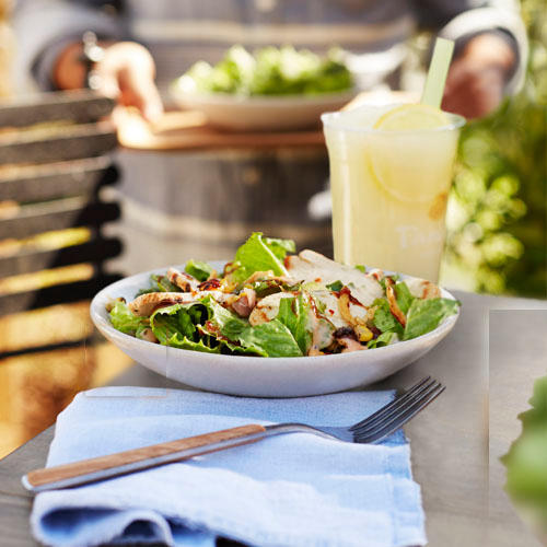 BBQ Chicken Salad paired with Frozen Lemonade
