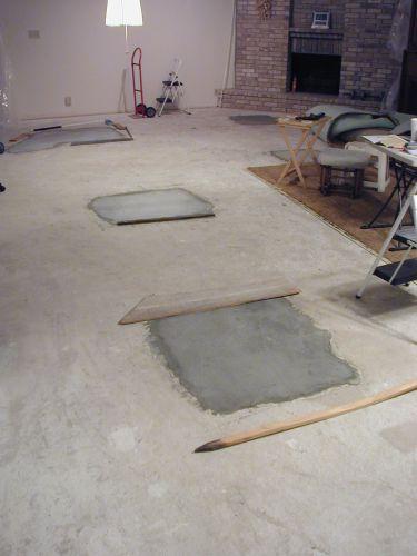 Request a free estimate on a concrete slab!