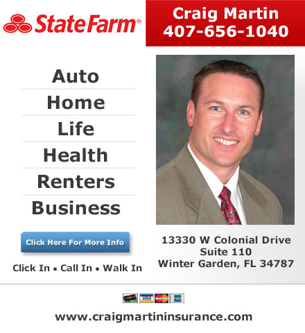Innovative Craig Martin  State Farm Insurance Agent In Winter Garden