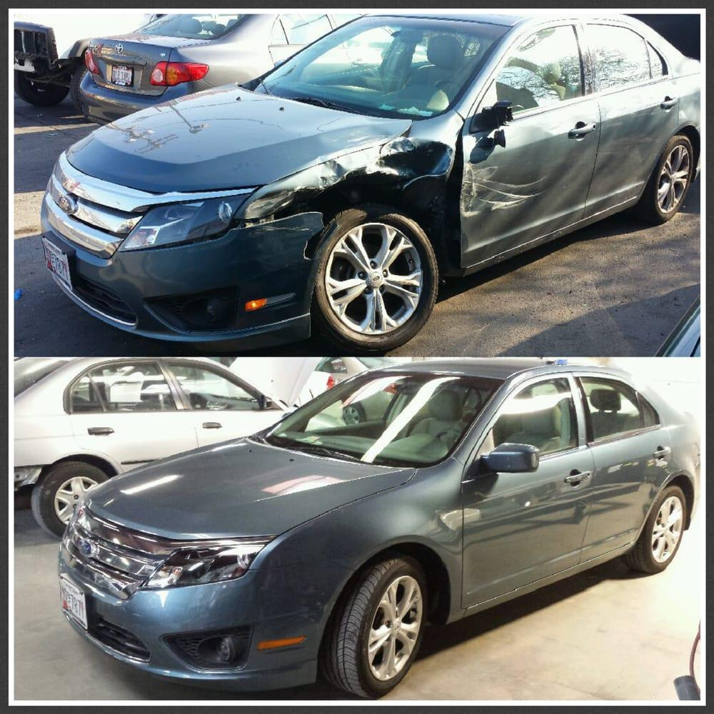 Before & After at Maven Motors auto body shop in Baltimore MD