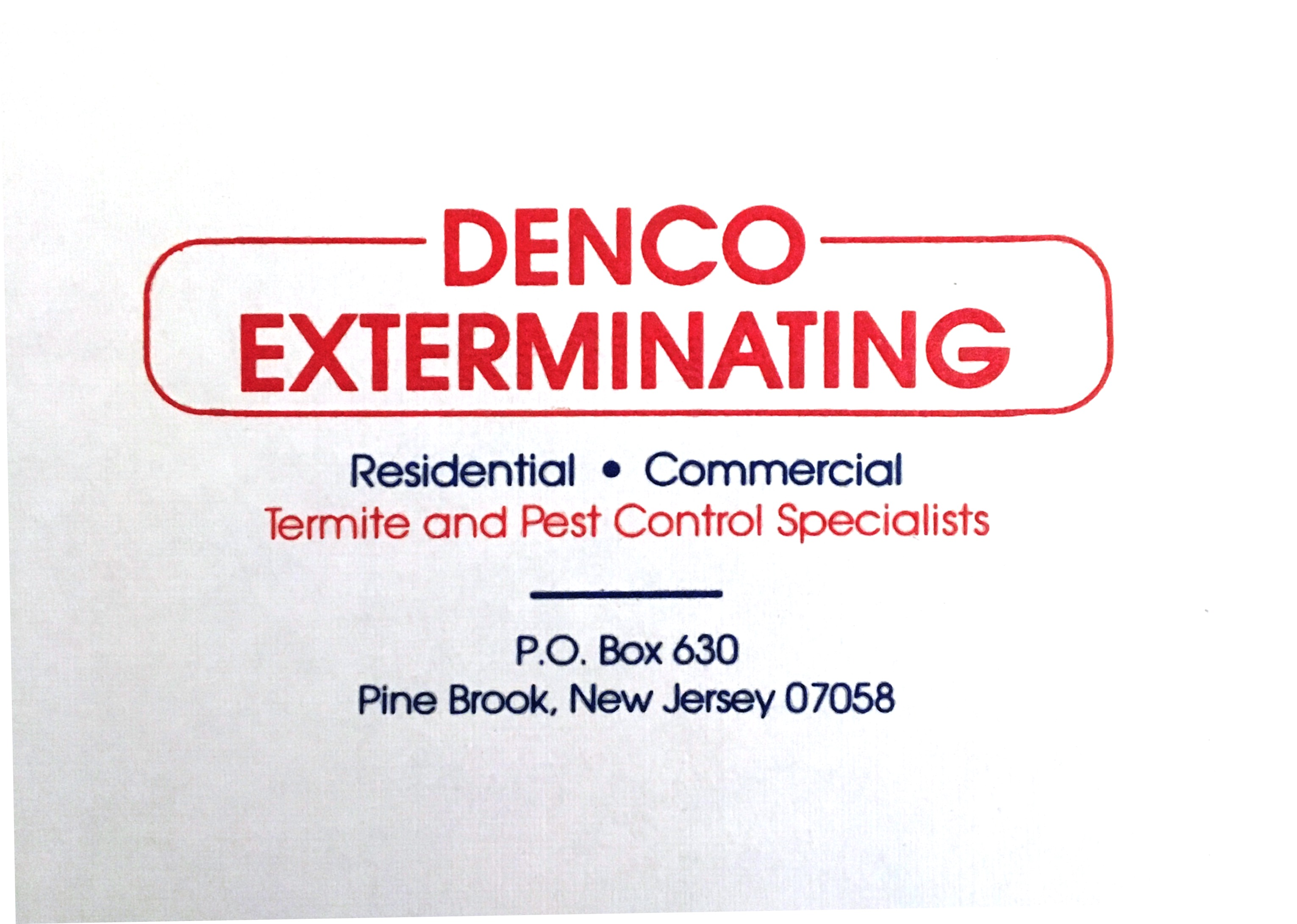 Denco Exterminating Co Inc.