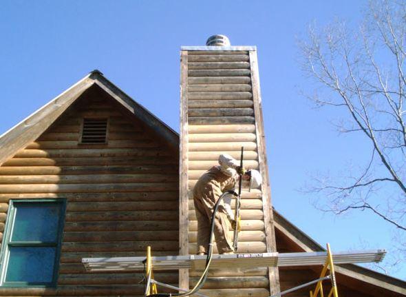 Bear Creek Log Home Restoration image 2